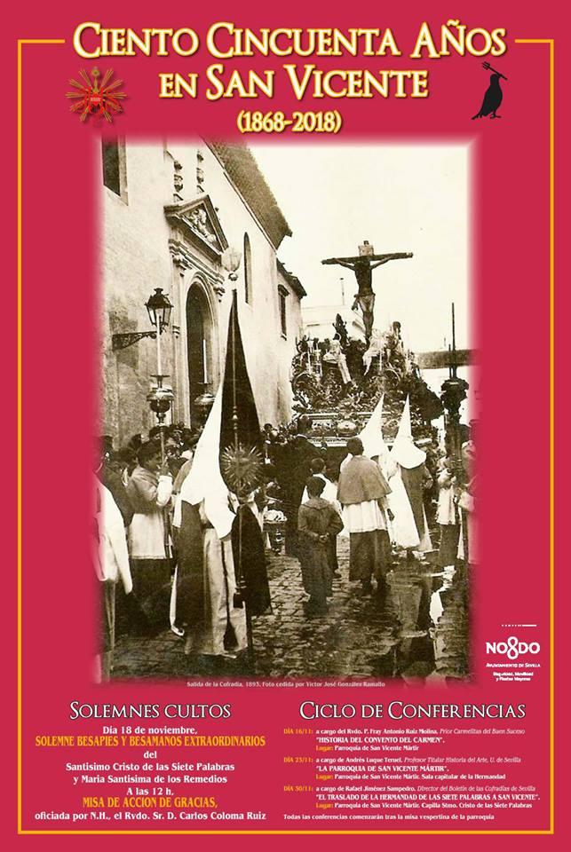 Cartel 150 años llegada a San Vicente
