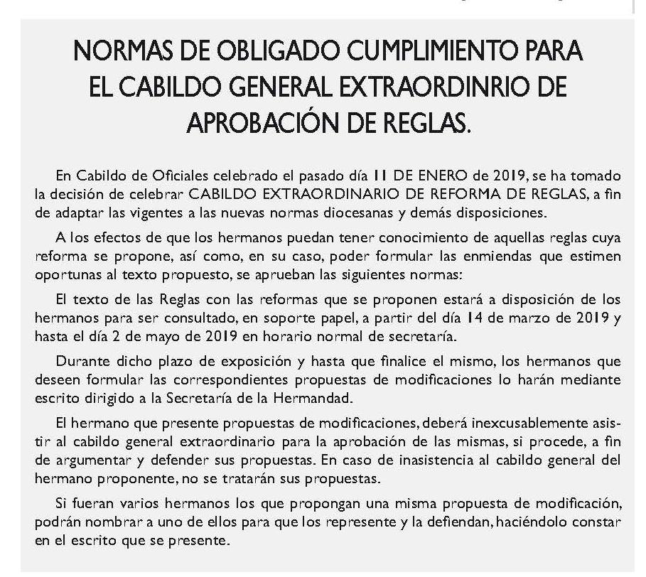 CONVOCATORIA CABILDO REGLAS 2019-1