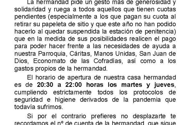 COMUNICADO CUOTAS 2020 3 1