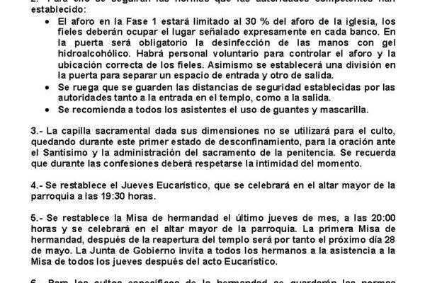 COMUNICADO DE LA JUNTA DE GOBIERNO 2