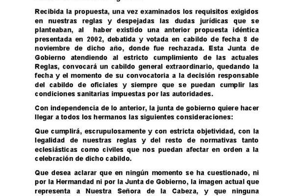 COMUNICADO DE LA JUNTA DE GOBIERNO Rafael definitivo Página 1
